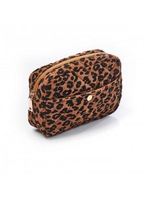 Fan Palm Toilettaske stor - Leopard