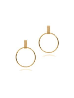 Link hoop earrings gold