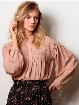 Lollys Laundry - Cara Blouse - Dusty Rose - white