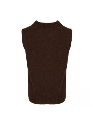 Tiffany Cathy Slipover Knit, Dark Brown