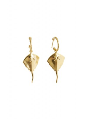 Rokke øreringe - guld