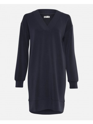Merla LS Sweat Dress - Navy