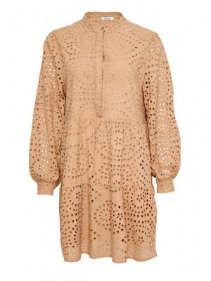 Noella Alexa Dress Cotton Broderie Camel