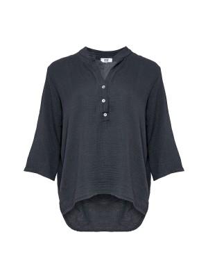 Tiffany Bomuldsskjorte 17661 Mørkegrå