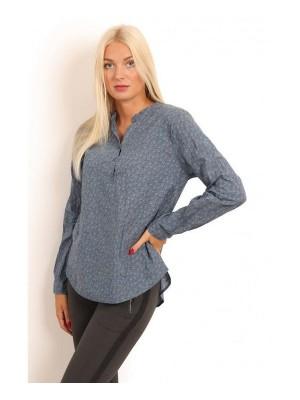 Skjorte med 3/4 ærme - Tiny Notes - lyseblå