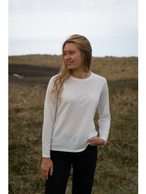 5481 | ELSK® SARAH LANGÆRMET T-SHIRT | OFF WHITE