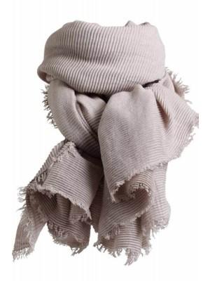 WALE SCARF Tørklæde fra Stylesnob (Light Grey)