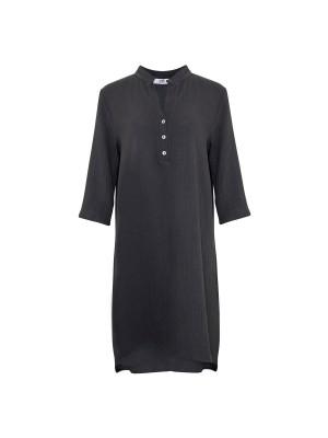 Tiffany Skjortekjole 17690 Double Cotton Mørkegrå