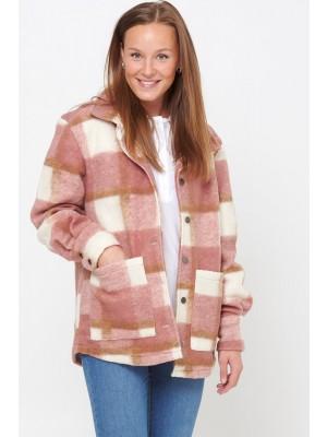 Noella Viksa Jacket Wool Dark Rose/offwhite