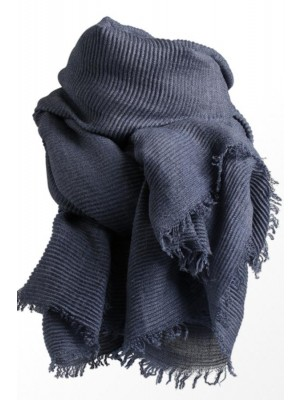 Wale Scarf - Stylesnob Tørklæde (gråblå)