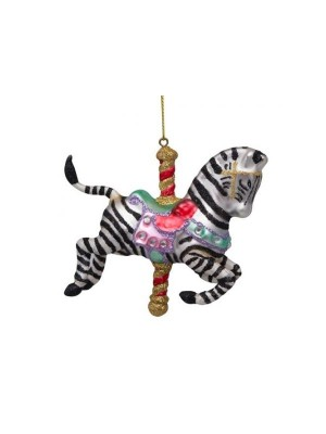 Musik karrusel sort, hvid zebra H10cm