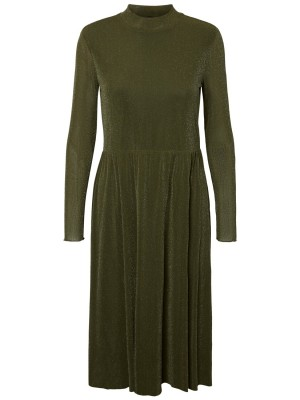 YAS Kjole - Vilida LS Highneck mesh dress, Rosin