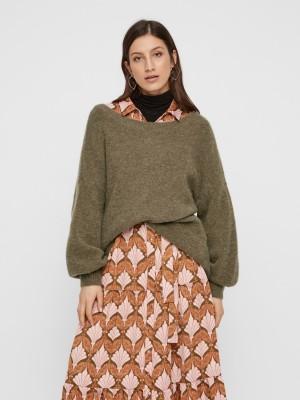 YAS Strik - Milina Knit Pullover Icons, Bamboo