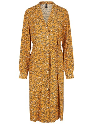 YAS Kjole - Ella LS Midi shirt Dress, Buckthorn Brown