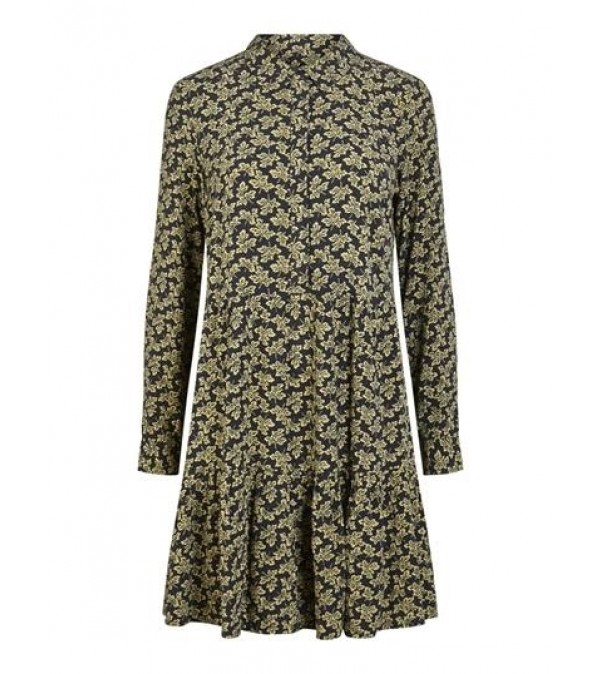 YAS Kjole - Lafera LS Dress, Carbon/Lafera Print