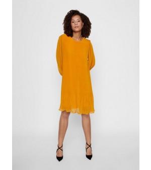 Plisseret kort kjole