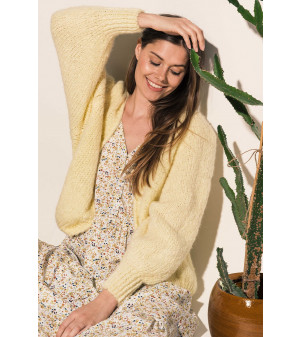 Fora Knit Cardigan Bright Yellow