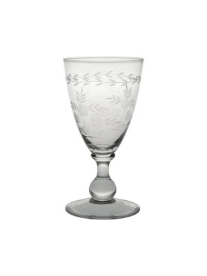 GreenGate Vinglas - Wine Glass with Cutting - Clear - Small
