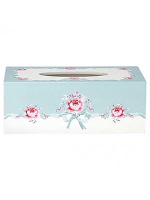 GreenGate Lommetørklædeæske - Tissue Box Betty Mint