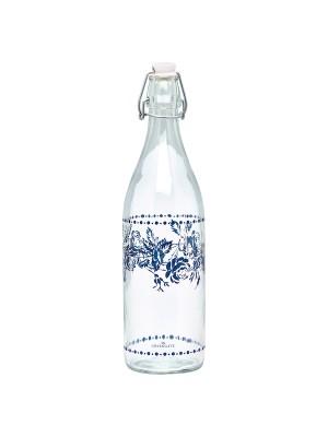 GreenGate Glasflaske Glass Bottle Fleur Blue