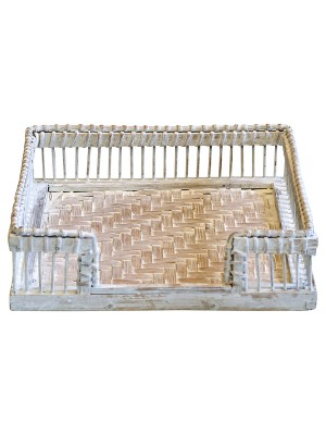 GreenGate Willow Napkin Tray White