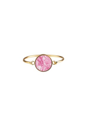 Marble bracelet giant - pink - gold