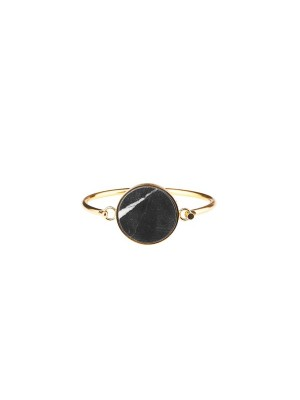 Marble bracelet giant - black - gold