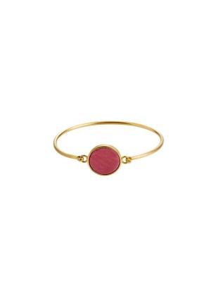 Marble bracelet round - rose  - gold