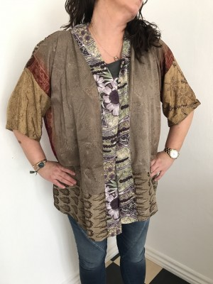 Lotus short 14 kimono