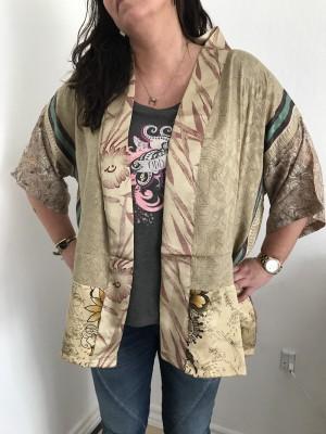 Lotus short 16 kimono