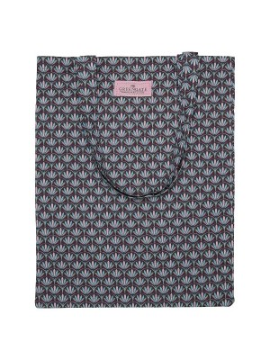 Bag cotton Victoria dark grey