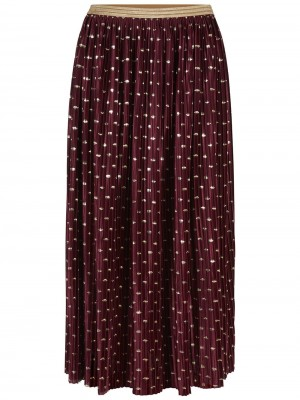 YASGALAY PLEATED NEDERDEL BORDEAUX