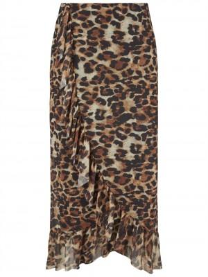 Yasecem Lang Leopard Wrap Nederdel