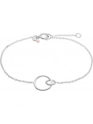 Bracelet, Double Circle - sølv