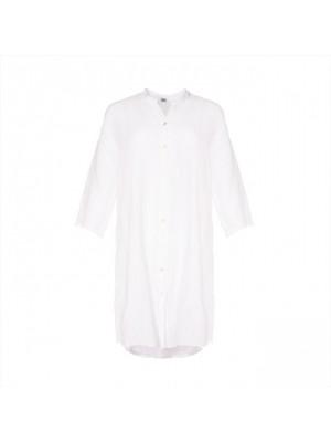 Tiffany skjortekjole i hør, hvid