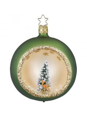 Grøn julekugle.
