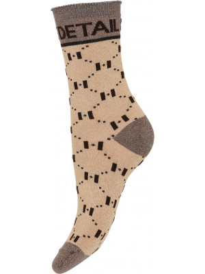 Hype The Detail - Fashion Sock 75 - Brown/Gold
