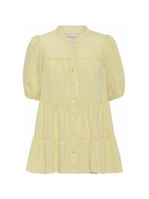 Sanna Stripe SS Blouse - Light Yellow