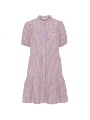 Sanna check dress - Purple