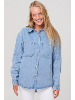 Noella Vance Pocket Shirt Denim Blue Denim