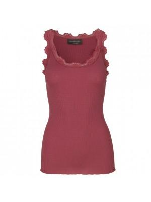 Silk Top Vintage Lace - Pink Blush - Mocca - Scarlet Red - Hvid - Sort - Grå