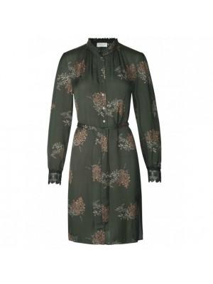 Rosemunde kjole - blå - grøn