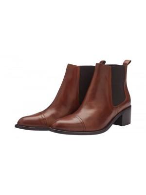 Chelsea læder støvle - Cognac