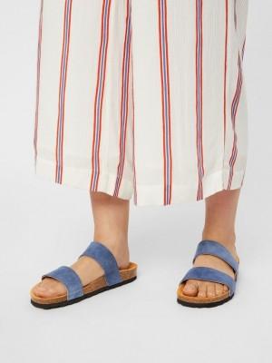 Twin strap sandal - blå