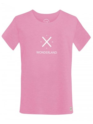 WONDERLAND X RE. WOMENS TEE - ROSE