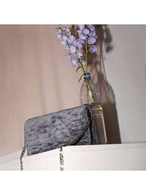 Allure Velvet Crossbody Grey