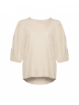 Tiffany Clara Blouse Linen, Light Beige