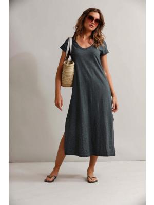 Rosita Long Dress  - Pacific - Tobacco