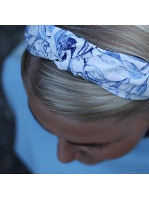 Maria hårbøjle - White