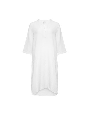 Tiffany Skjortekjole i bomuld18970 X Hvid